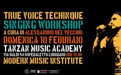 Singing Workshop con Alessandro Del Vecchio